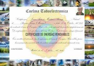 certificado curso de energías renovables