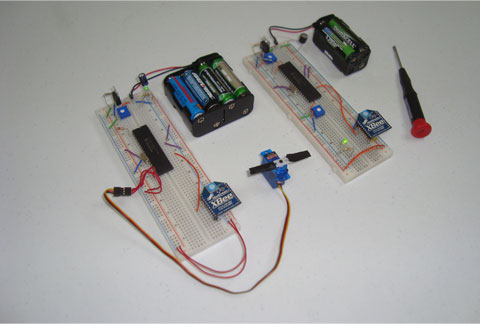 Foto control servomotor con módulo Xbee wifi