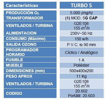 ozonizador turbo 5