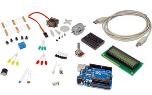 Kit de Iniciación a Arduino con todo lo necesario para empezar.