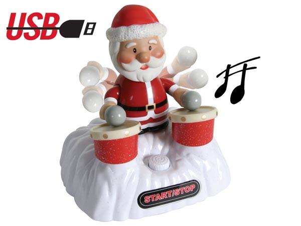 Este Papa Noel se conecta por USB.