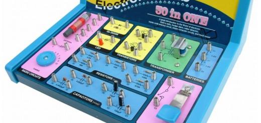 Son minilaboratorios para aprender electrónica y electricidad.