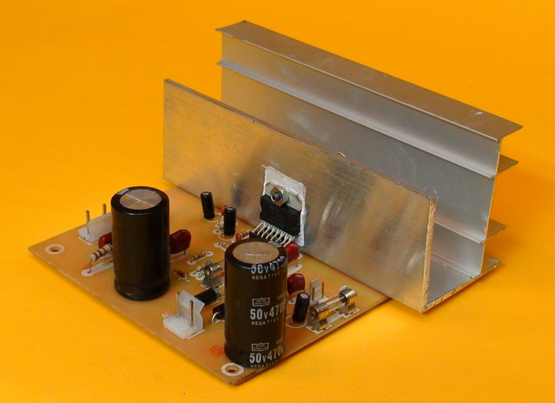 With simple components you can make a homemade amplifier.
