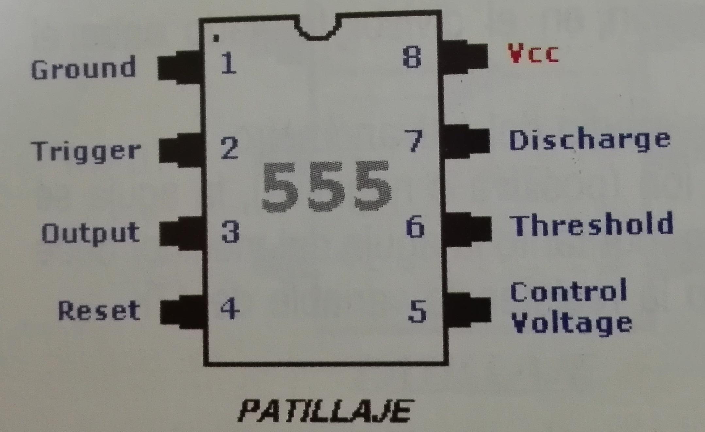 Detalle del circuito 555.