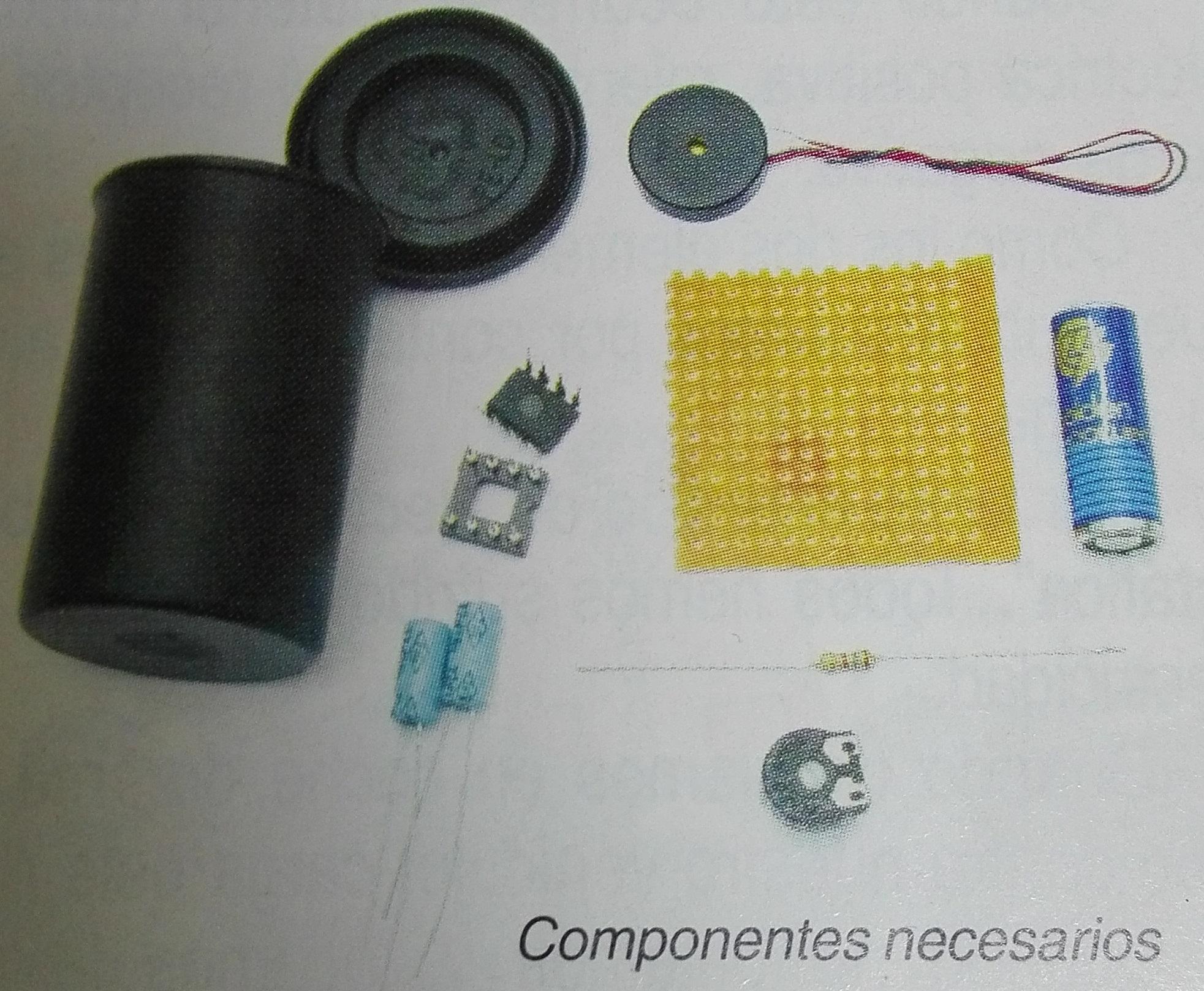 Los componentes se pueden adquirir fácilmente.