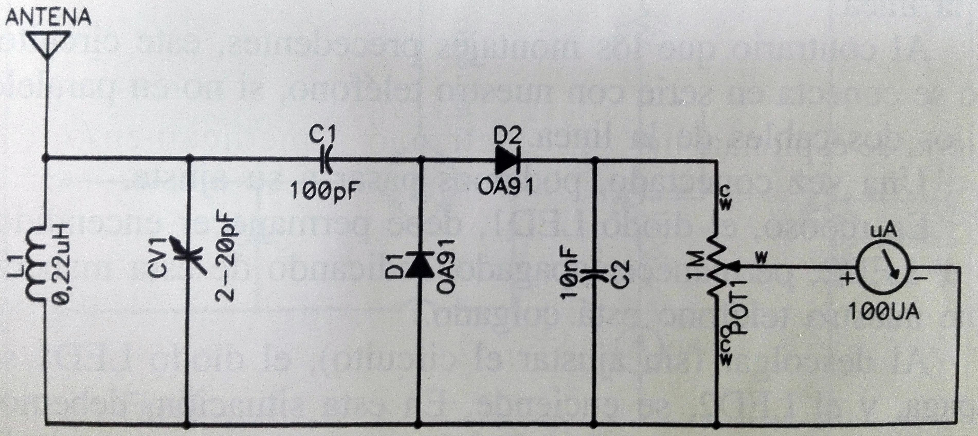 electronic circuit field meter
