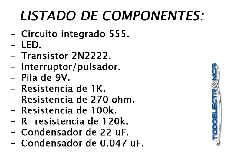 Todos los componentes se pueden obtener en todoelectronica.