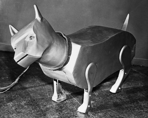 Sparko, el perro robot de raza terrier.