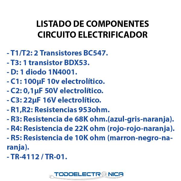 componentes electronicos para el kit para montar de todoelectronica