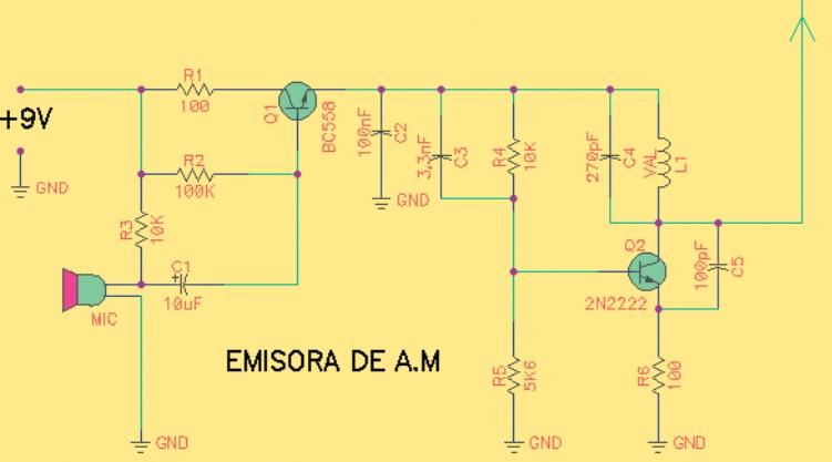 esquema emisora experimental AM