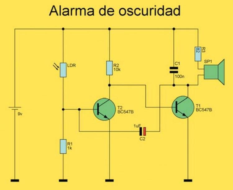 esquema detector de oscuridad
