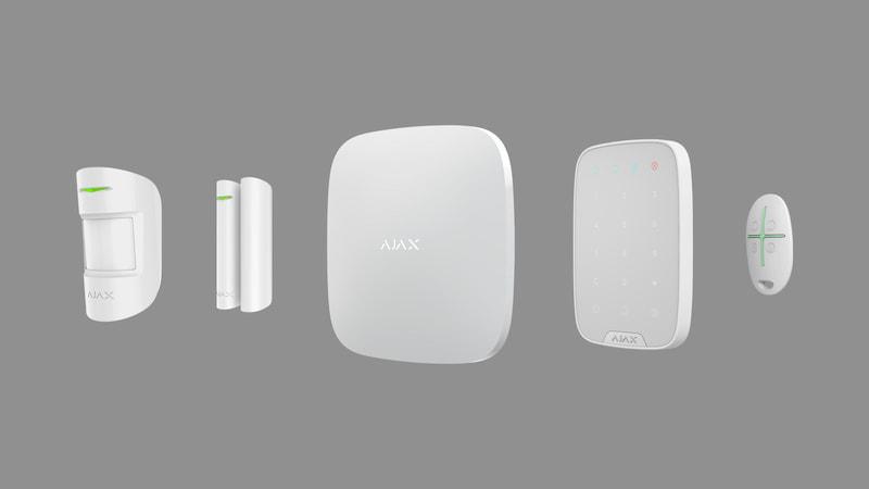 detectores, hub, sirena y mando de la Alarma Ajax