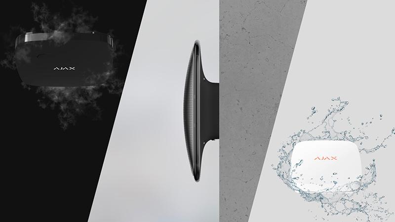 Sirena ajax color blanco color negro