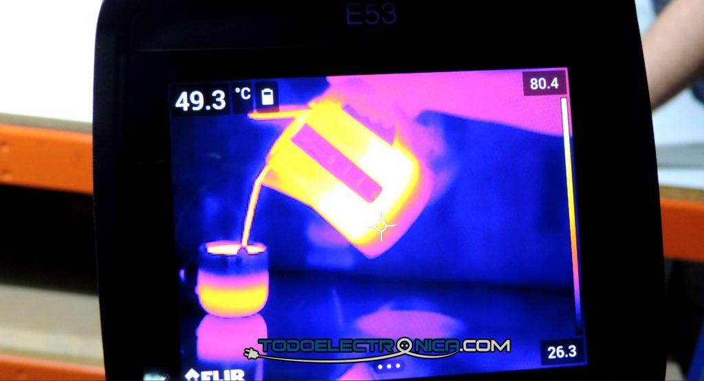 Experimento con cámara termográfica